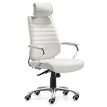 Enterprise Executive Chair With Headrest White Office Chair