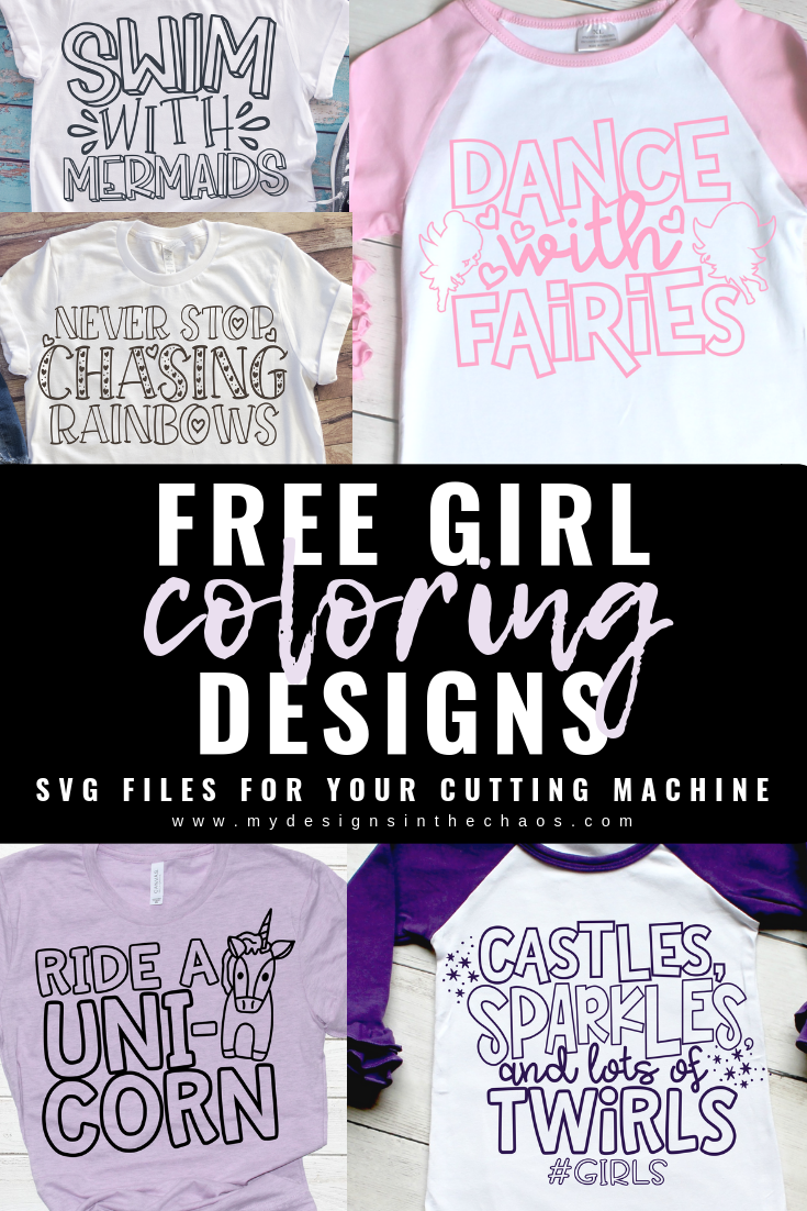 Free Girl Coloring Book Svg Files My Designs In The Chaos Free Girl Coloring Books Cricut Free