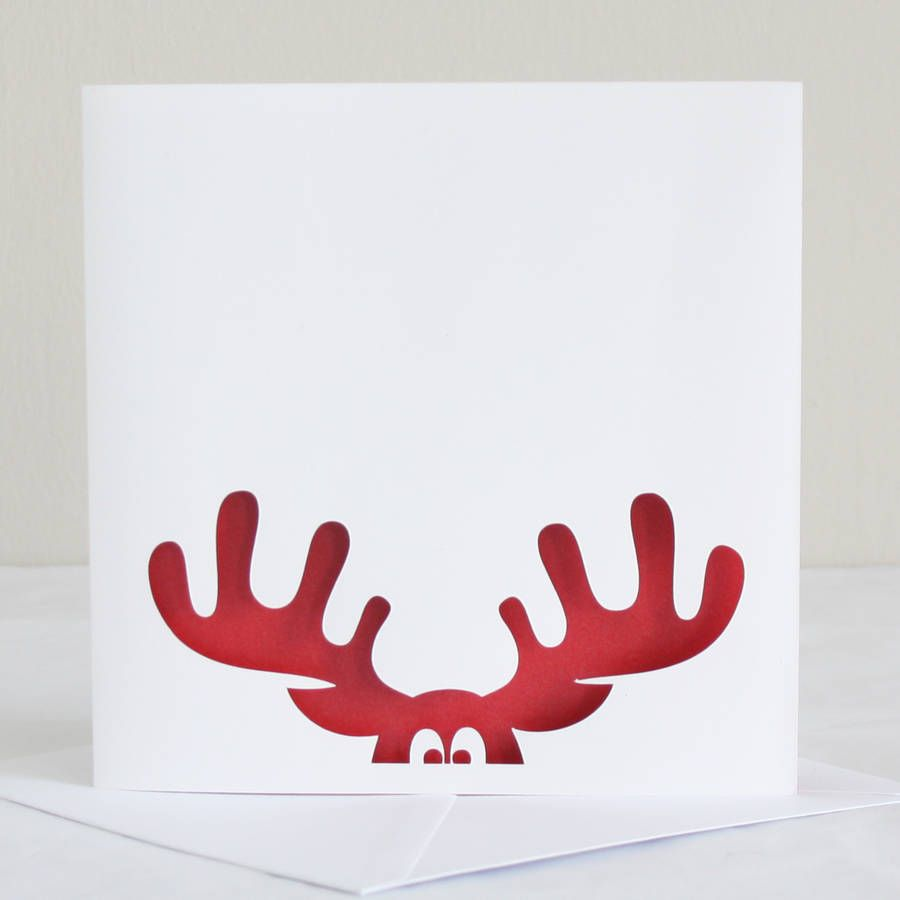 Reindeer Papercut Christmas Card Christmas Cards Handmade Cricut Christmas Cards Christmas Cards To Make