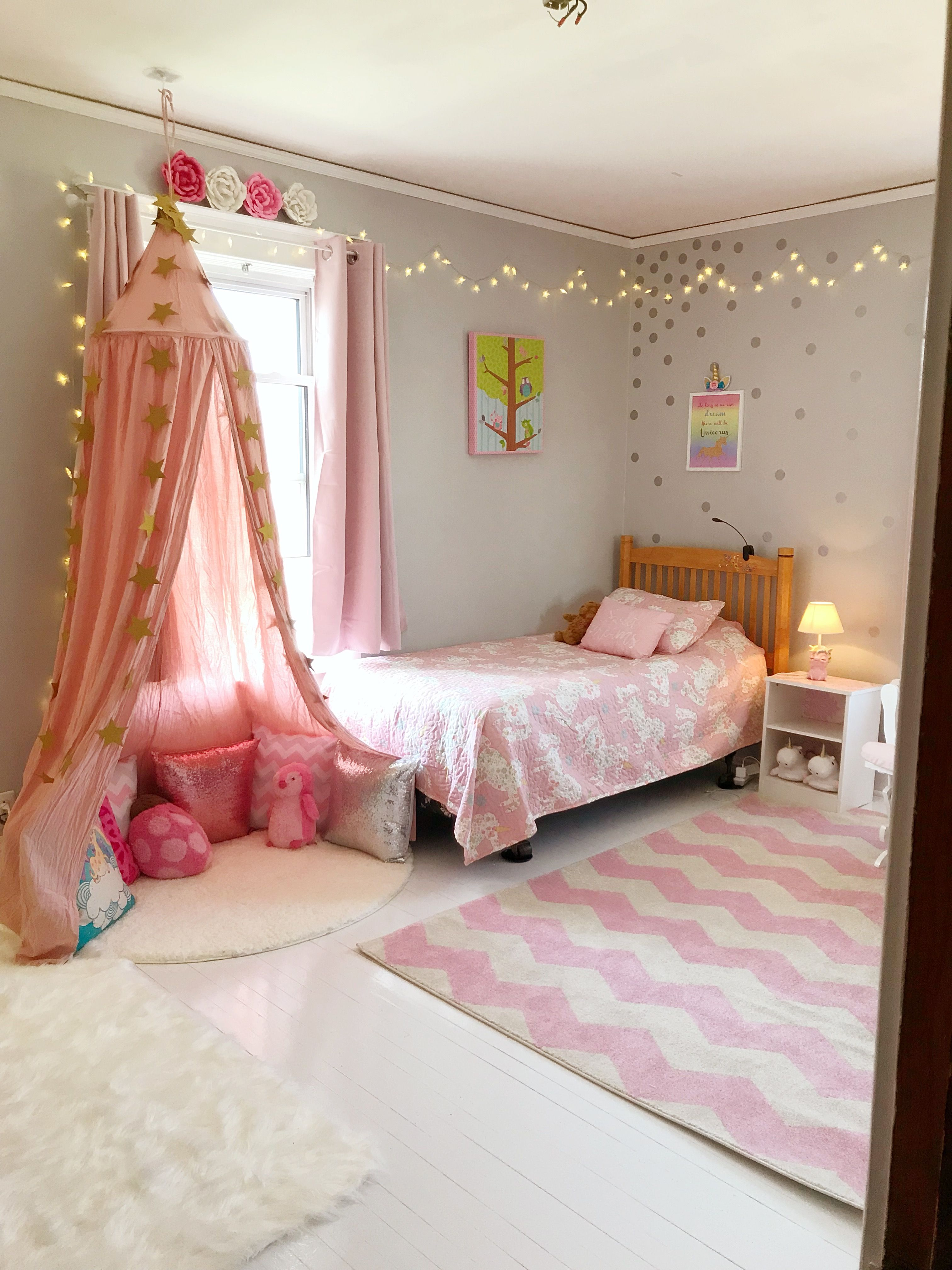 S Bedroom Ideas Cute Room Decor Pink And Gray White Wood Floors Unicorn Little