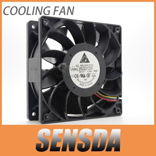 Free Shipping Delta PFC1212DE 120*120*38 mm 12038 1238 12CM DC 12V 4.80A server inverter cooling fan $24.99