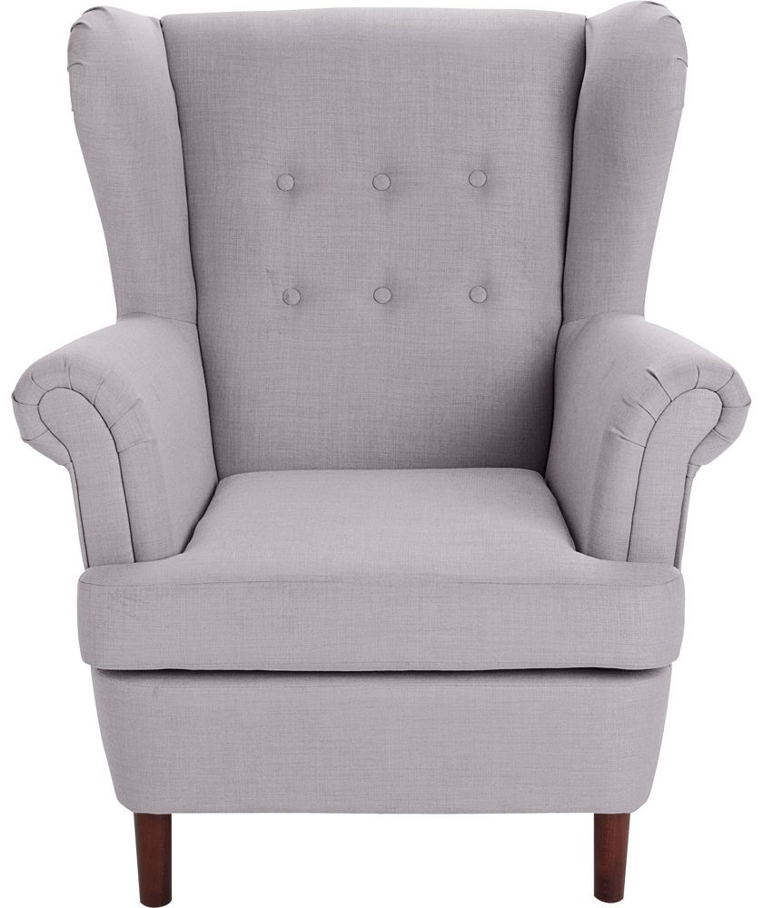 Wingback Chair Uk Linen Chairs Dining Buy Martha Fabric Grey At Argos Co Your Online Shop For Armchairs And