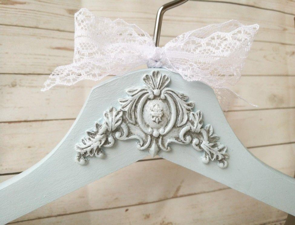 Wedding dress hanger, Personalized Bride hanger, Vintage