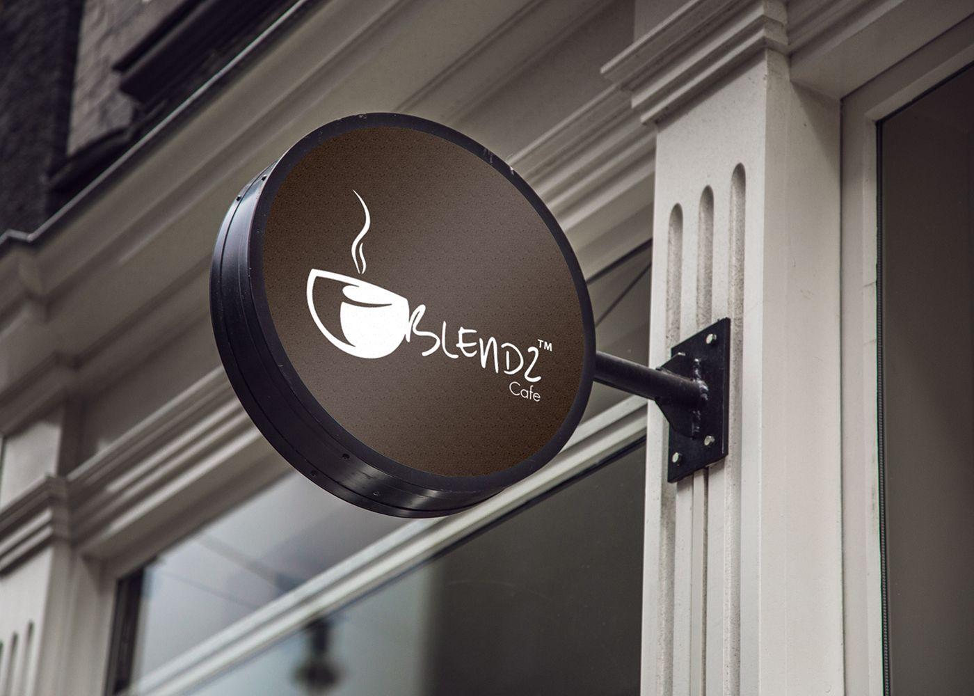 Download Check Out This Behance Project Blendz Cafe Logo Branding Https Www Behance Net Gallery 40718313 Ble Neon Box Coffee Shop Logo Design Logo Design Coffee