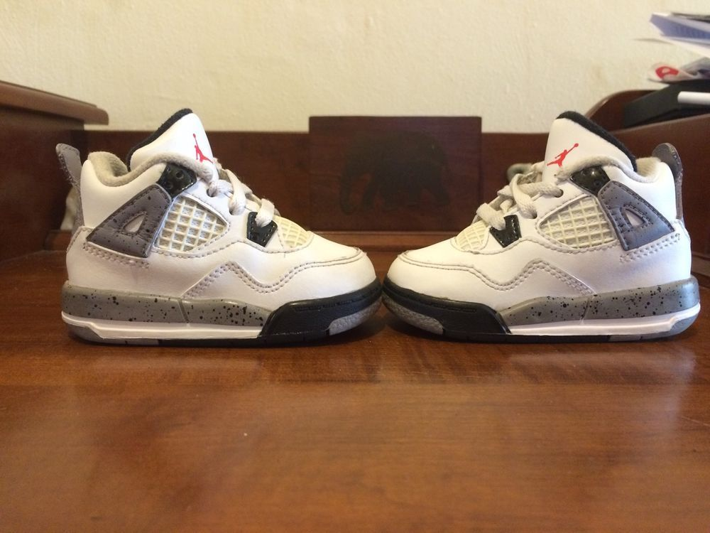#nike air jordan iv 4 4c white cement #toddler infant #baby from $45.0