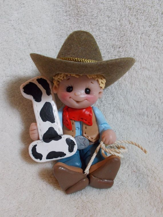 Cowboy Birthday Cake Topper Decoration Christmas By Clayqts 2695