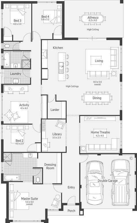 Affinity Dale Alcock Homes Dream House Plans Home Design Floor Plans Bedroom House Plans