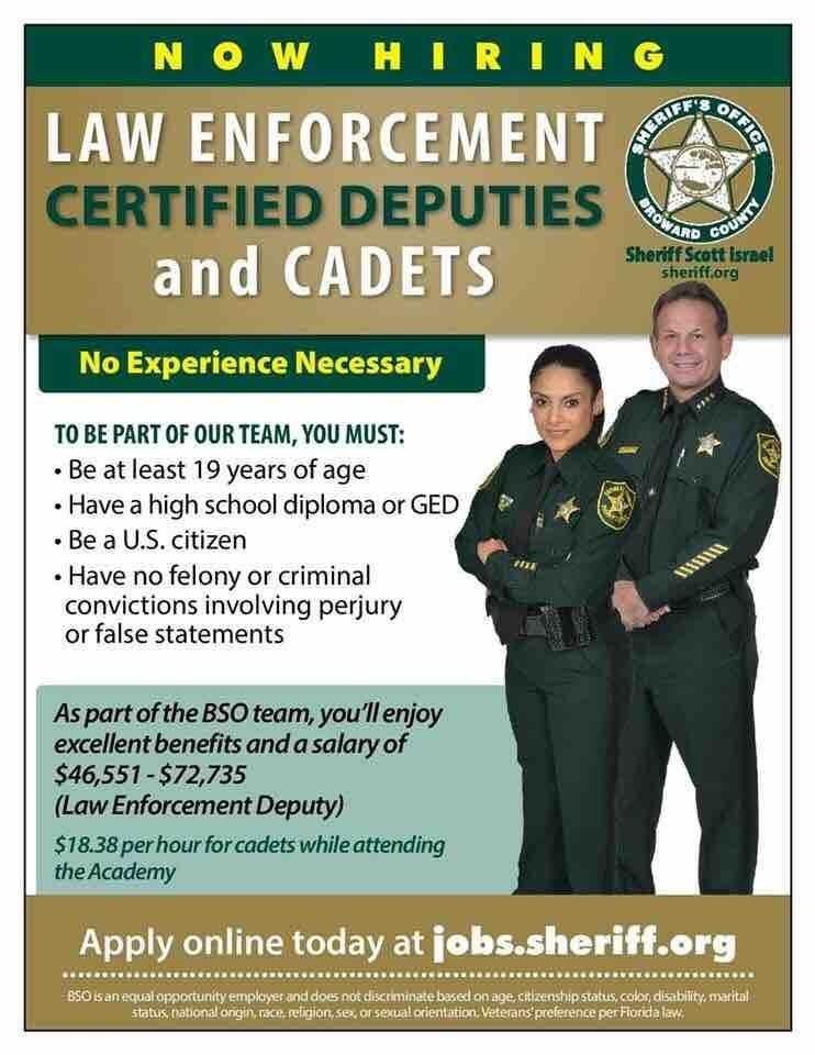 Broward County Sheriff S Office Is Hiring Broward County Sheriff Current Job Broward County
