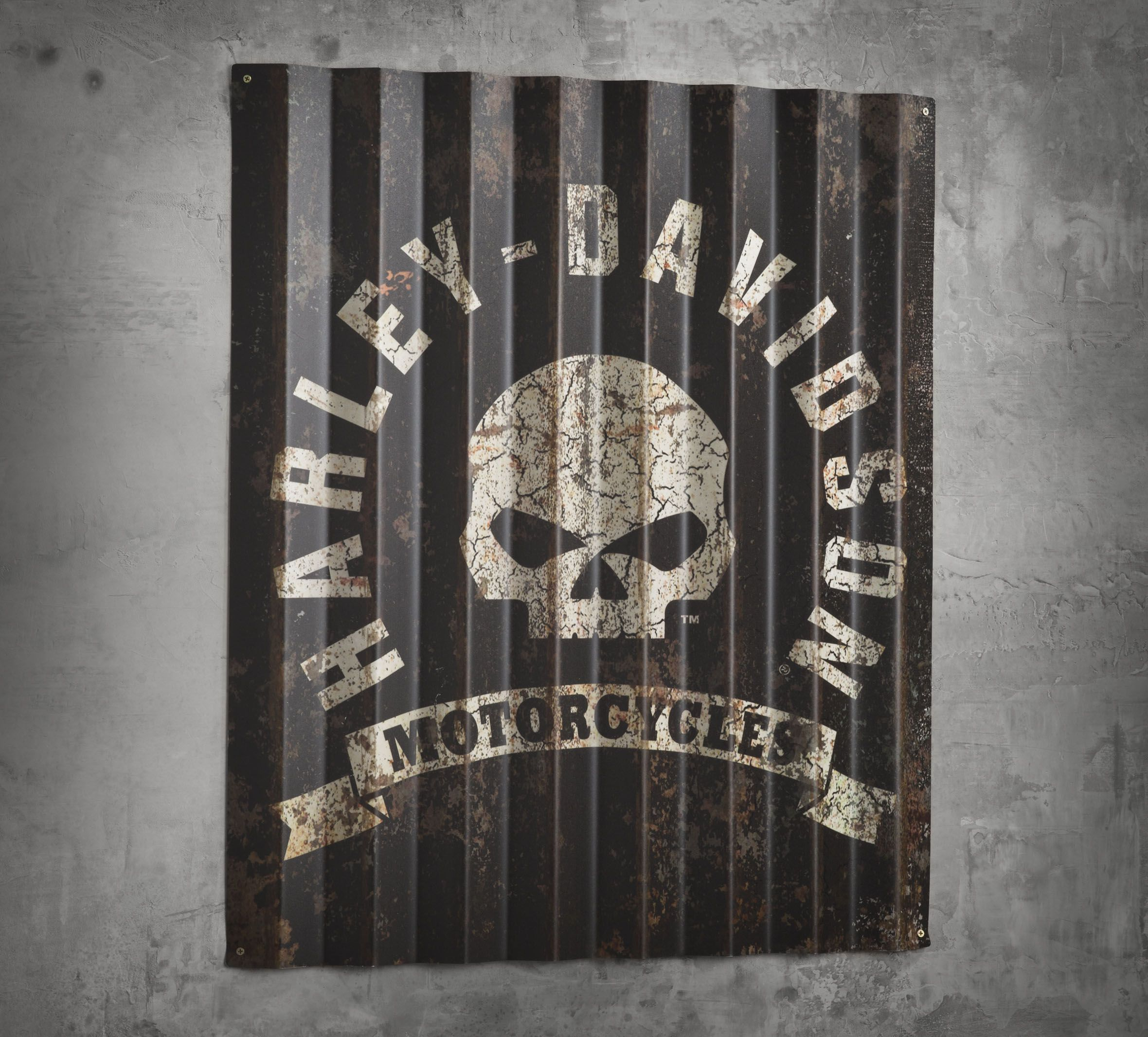 Harley Davidson Man Cave Signs : Corrugated metal sign caves love this and mirror