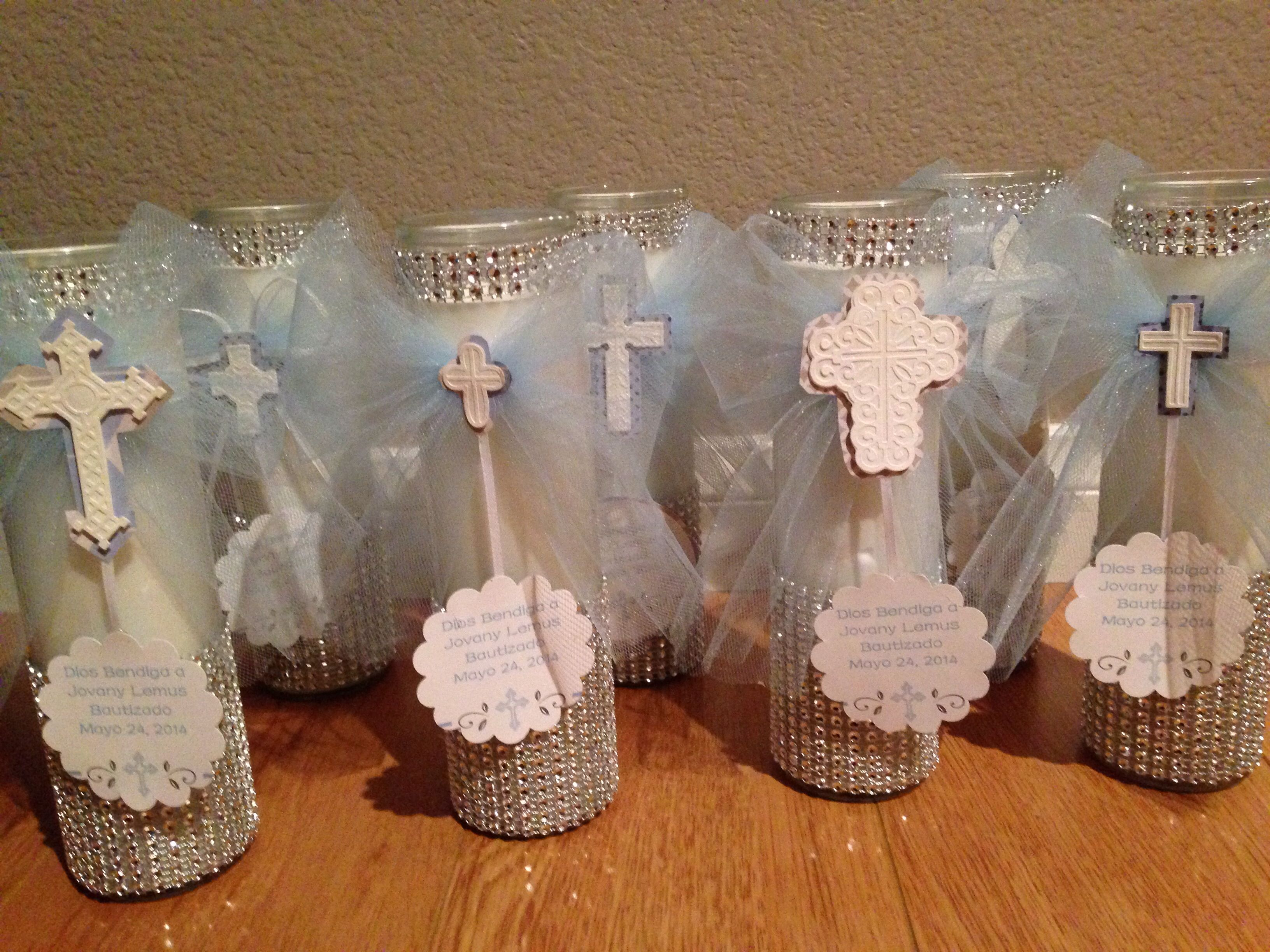 Baptism favors decor centerpiece jovanys bautizo