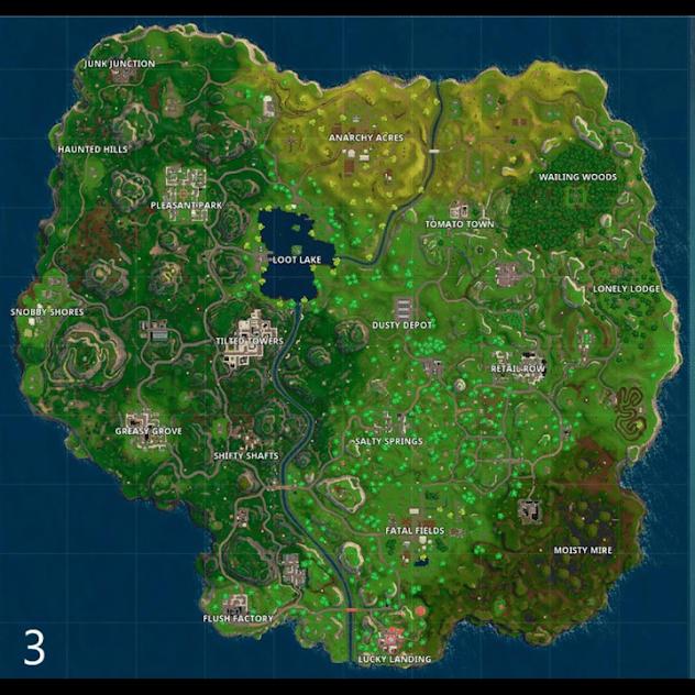 Map Fortnite Season 3 Fortnite Seasons Season 3