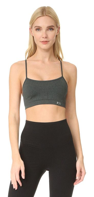 55cdc7a203 loren seamless bra by Splits59. Double-layered performance jersey lends  support to this seamless Splits59 soft bra. Ribbed back panel. Covered  elasti.