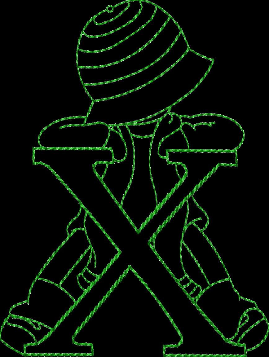 Alfabeto riscos ou moldes de letras Sunbonnet Sue bordado | Machine ...