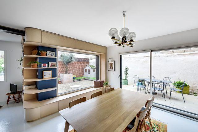 Maison Romainville  200 m2 décorés pour une famille Living rooms