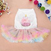 Photo of 4 Size Colorful Sweet Puppy Dog Princess Skirt Pet Dog Lace …