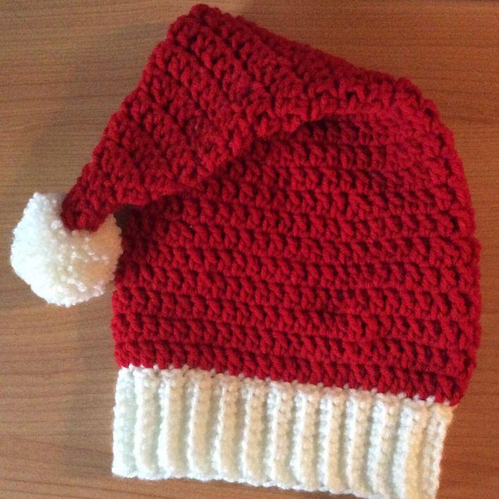 Nikolausmütze gehäkelt – für Kinder | Mütze, Gehäkelte mützen und Häkeln
