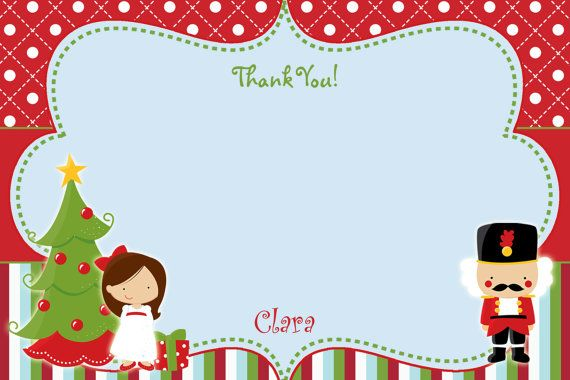 nutcracker thank you note christmas thank you note you print or i