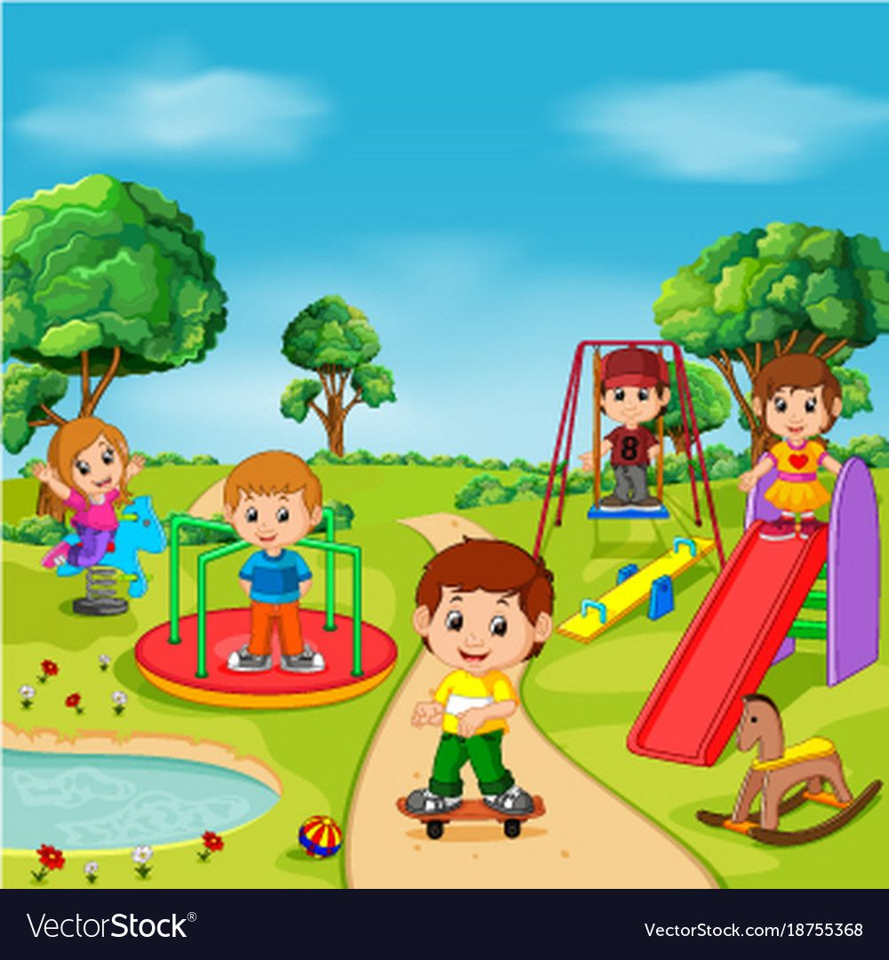 clipart kids playing in garden - Clip Art Library