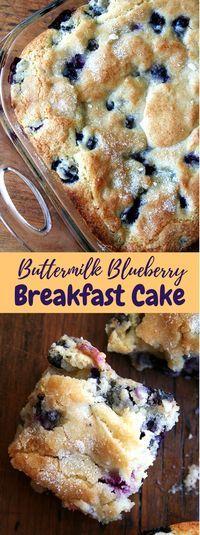 Buttermilk Blueberry Breakfast Cake #Sweet #Cakes #buttermilkblueberrybreakfastcake