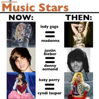 Music stars modern vs classic