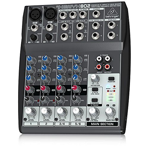 Behringer Xenyx 802 Premium 8-Input 2-Bus Mixer with Xenyx Mic Preamps and British EQs #deals