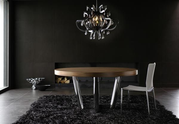 contemporary round dining table modern round dining room ...