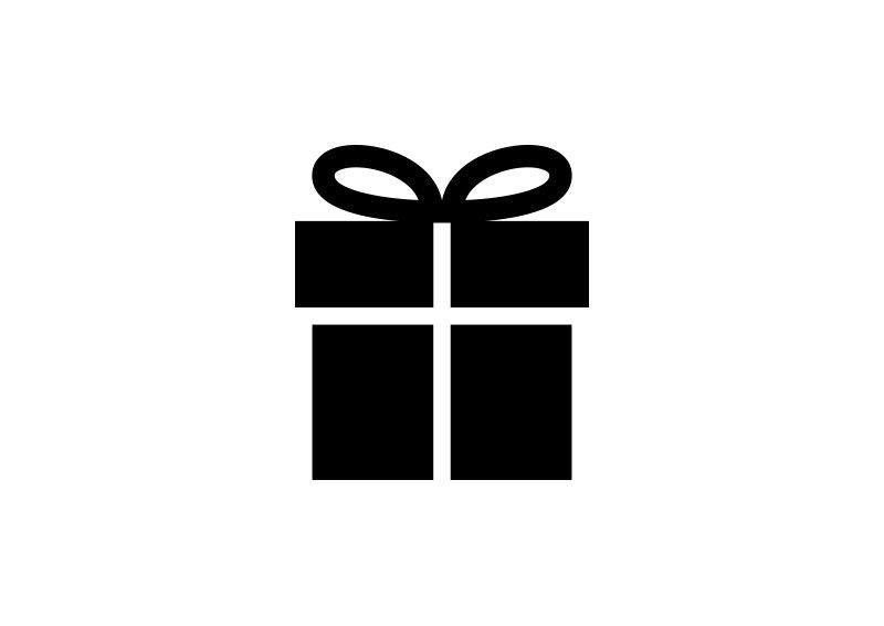 Simple Present Box Vector Icon Party Icon Gift Logo Bakery Logo Design