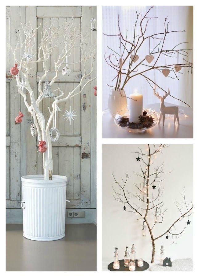 11 rboles de navidad con ramas secas xmas stuff - Ramas de arbol para decoracion ...