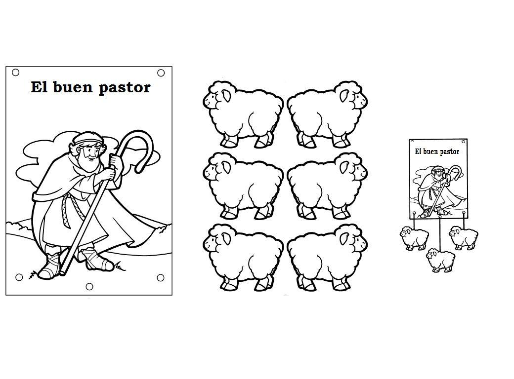 Movil El Buen Pastor Pegar Las Ovejas Por Los Dos Lados