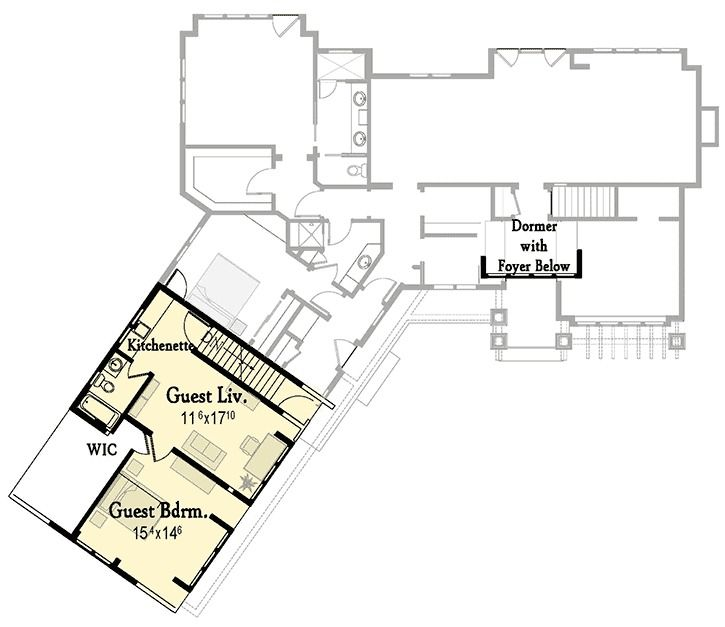 Plan 18290BE: Flexible Exclusive Cottage Plan With Up To 4 Beds
