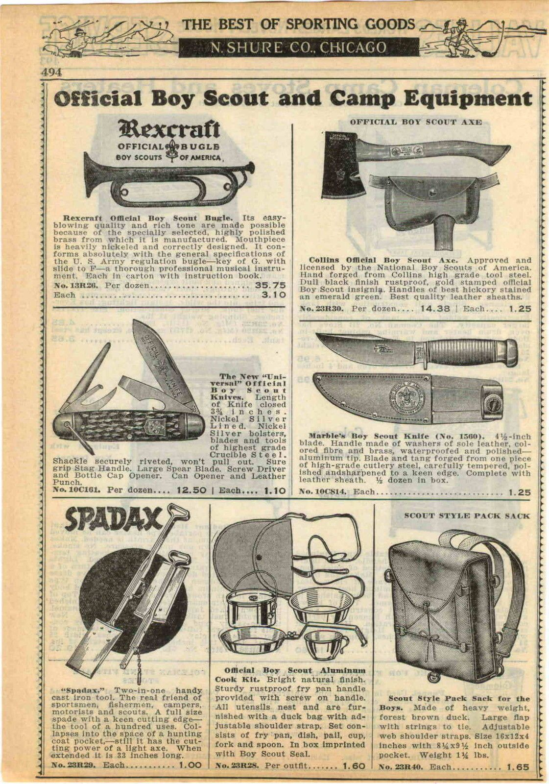 Official Boy Scout Camping Gear Ad