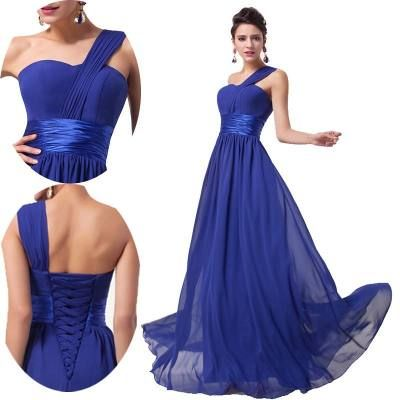 Vestido De Fiesta Largo Azul Graduación Boda Envío Gratis A