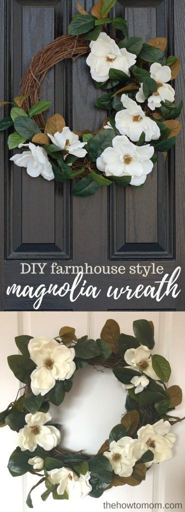 Photo of How to make a magnolia wreath – with beautiful flowers!   The How To Mom