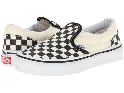 214848b32067ed Vans Kids Classic Slip-On (Little Kid Big Kid) (Checkerboard) Black White  2014 - Zappos.com Free Shipping BOTH Ways