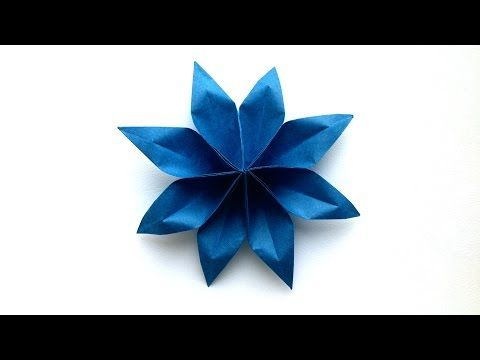 Origami 3d Star Origami Tutorial Youtube Fold Of Paper