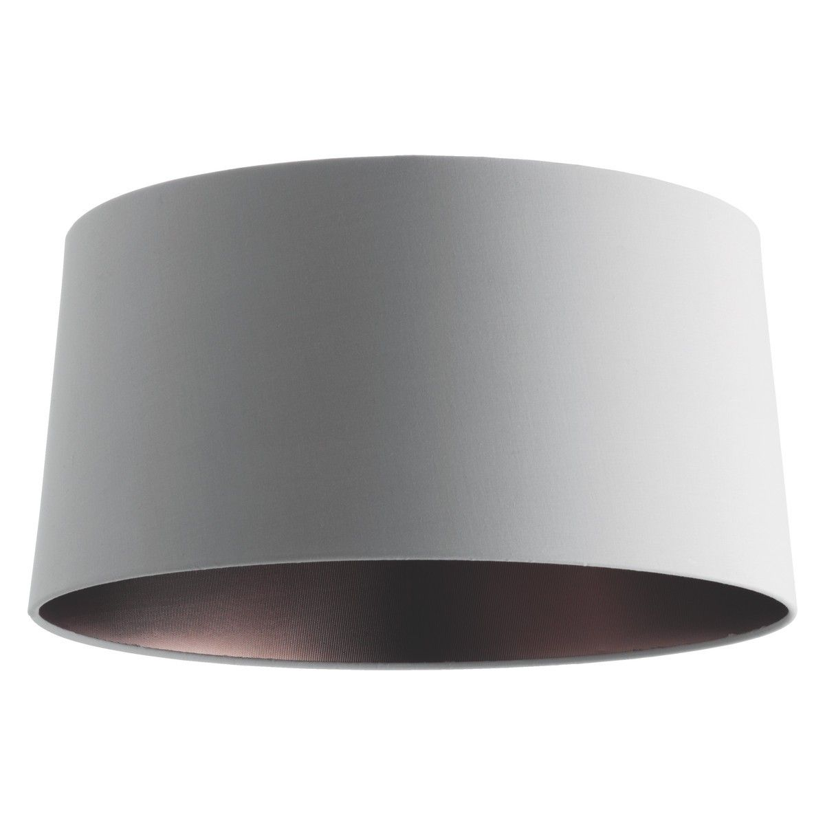 GRANDE Grey/bronze Medium Tapered Lampshade D38 X H19cm