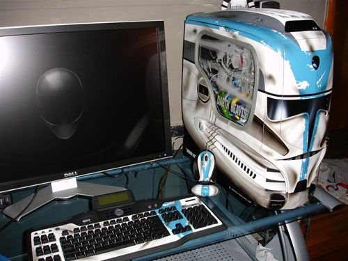 star wars computer case mod technick pc geh use. Black Bedroom Furniture Sets. Home Design Ideas