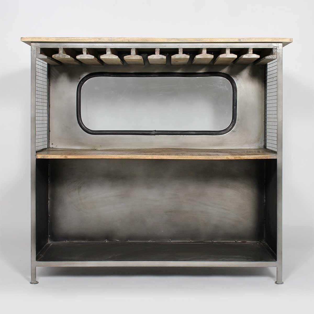 Bar Industriel gris en métal | Range verre, Meubles bar et Structure ...