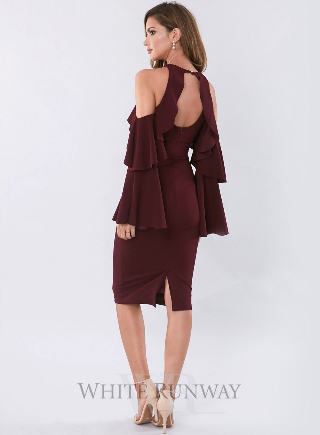 Celine Midi. A stylish midi dress by Pasduchas. A high neck style ...