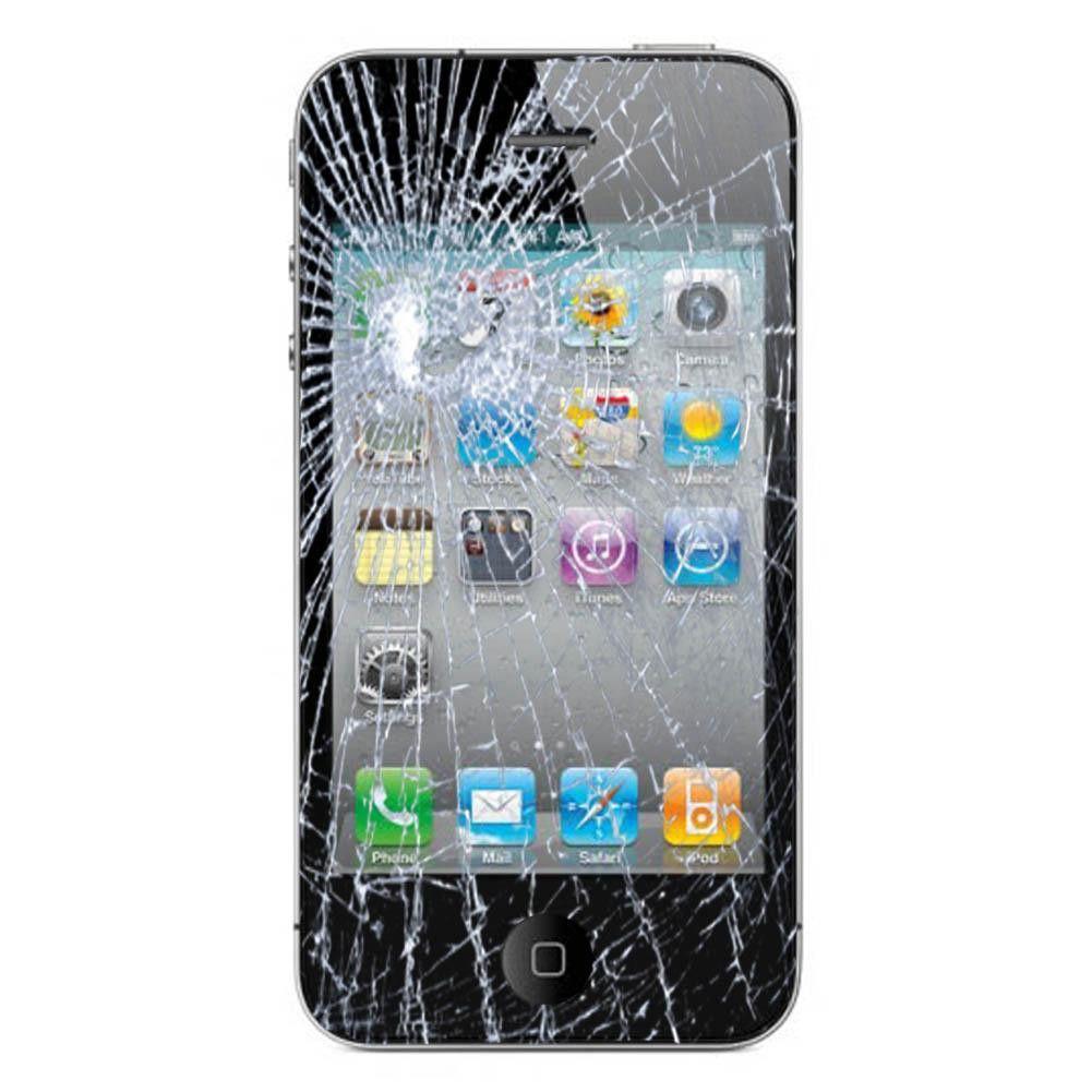 Iphone 4s Broken Glass Lcd Repair Service Black Iphone Repair Screen Repair Phone Repair