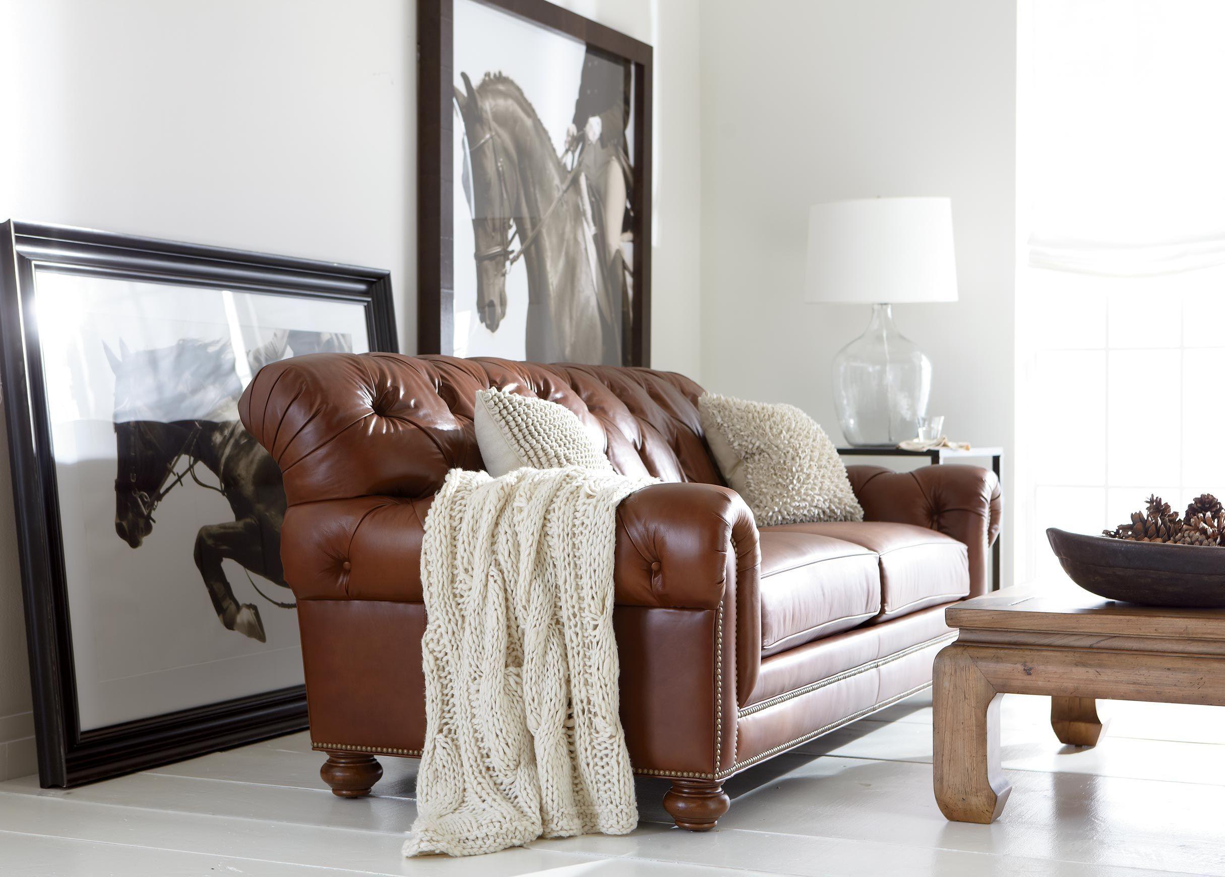 Chadwick Leather Sofa Old English Saddle Leather Sofa Living Room Sofa Furniture