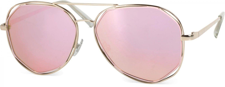 a376381c3bf0f5 styleBREAKER Duochrome Effekt Sonnenbrille, Aviator Pilotenbrille mit  eckigen Gläsern und Federscharnier, Unisex 09020068 Sonnenbrillen