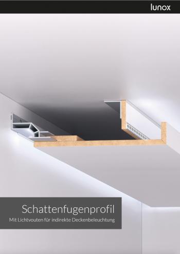 lunox schattenfugenprofil lichtvouten f r indirekte deckenbeleuchtung haus beleuchtung. Black Bedroom Furniture Sets. Home Design Ideas