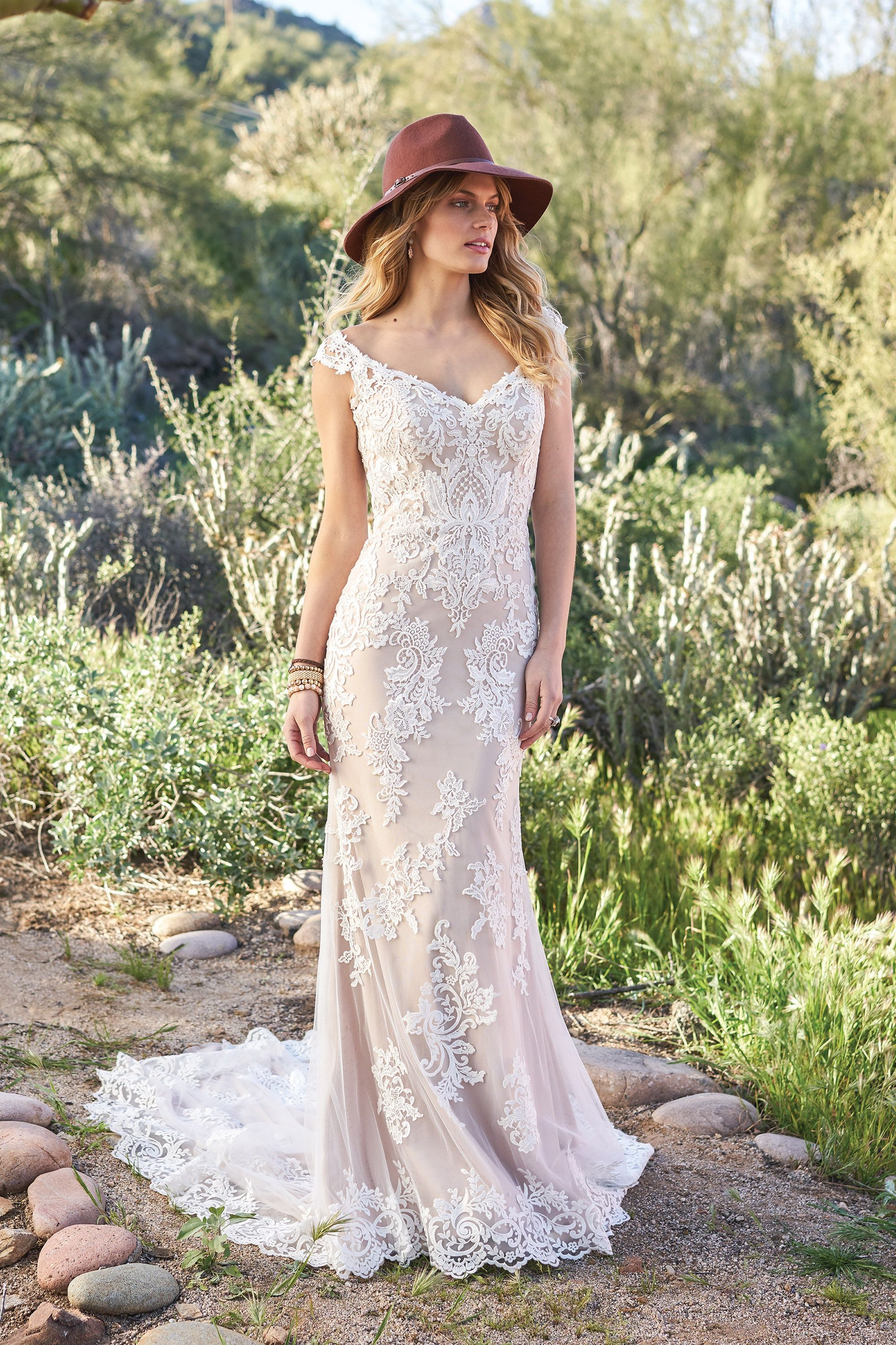 Lace off shoulder wedding dress august 2019 COMING SOON Lillian West  IvoryIvoryNude Size  Venice Lace