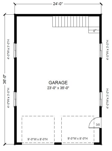 24 X 36 With Loft Pl13 Garage Floor Plans Garage Plans Garage Plans With Loft