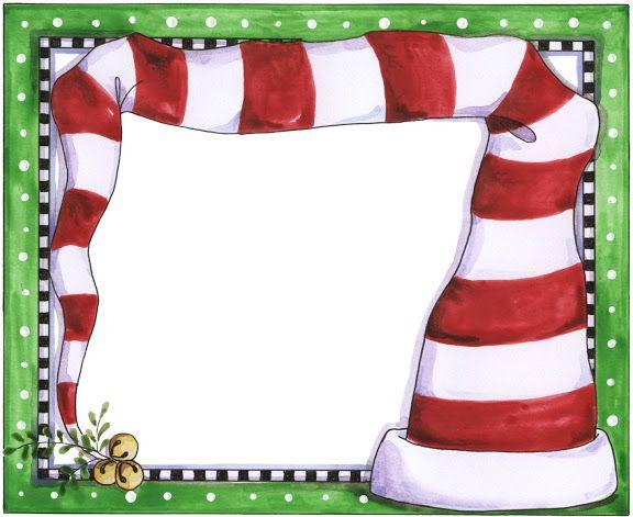CHRISTMAS ELF HAT FRAME CLIP ART PRINTABLE | CLIP ART - CHRISTMAS 1 ...