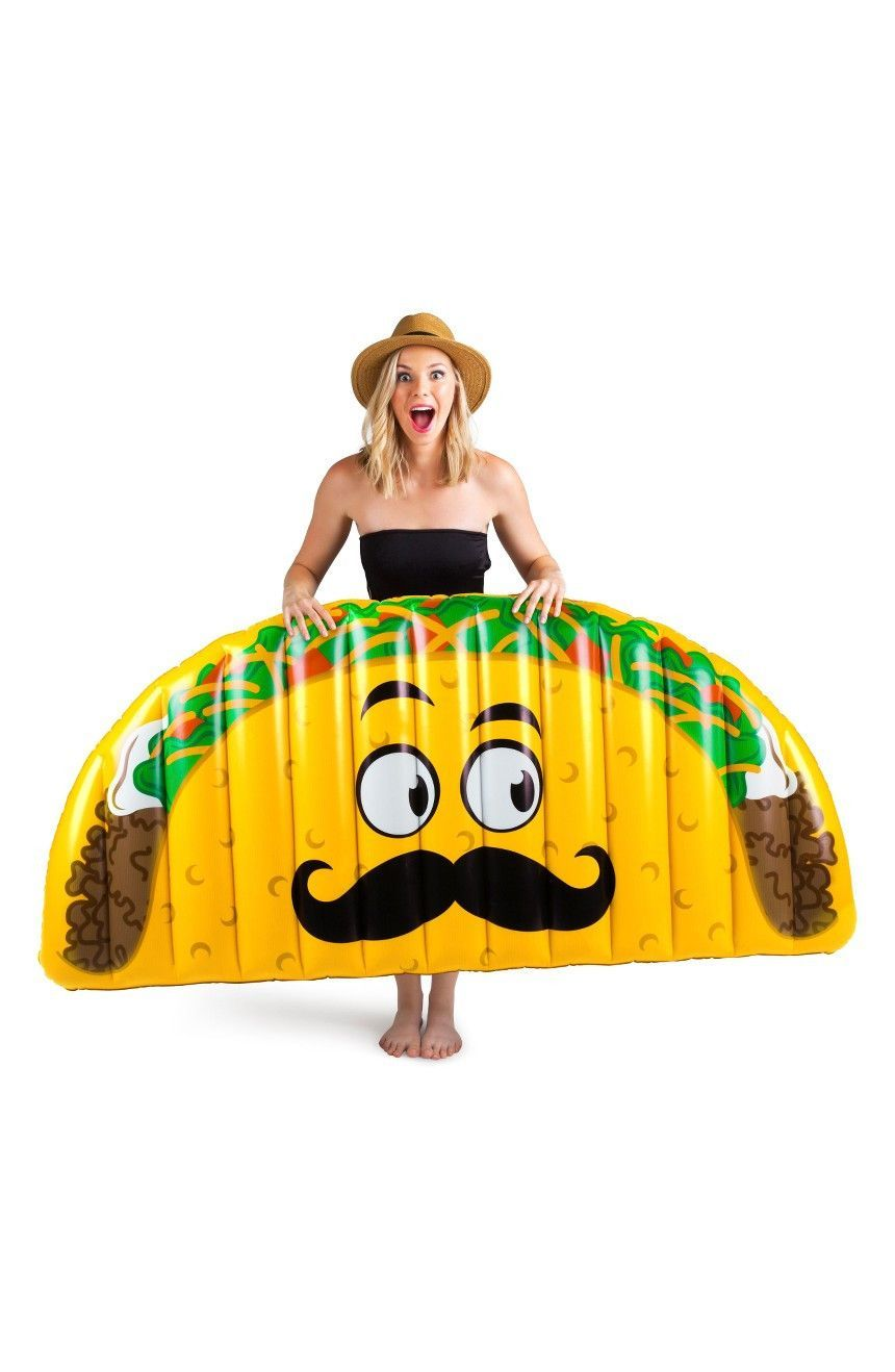 Inflatable furniture  Giant Taco Pool Float  Products  Pinterest  Pool floats and Products