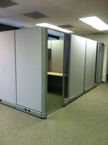 Herman miller a02 85 high office cubicles with doors this for 8x8 office design