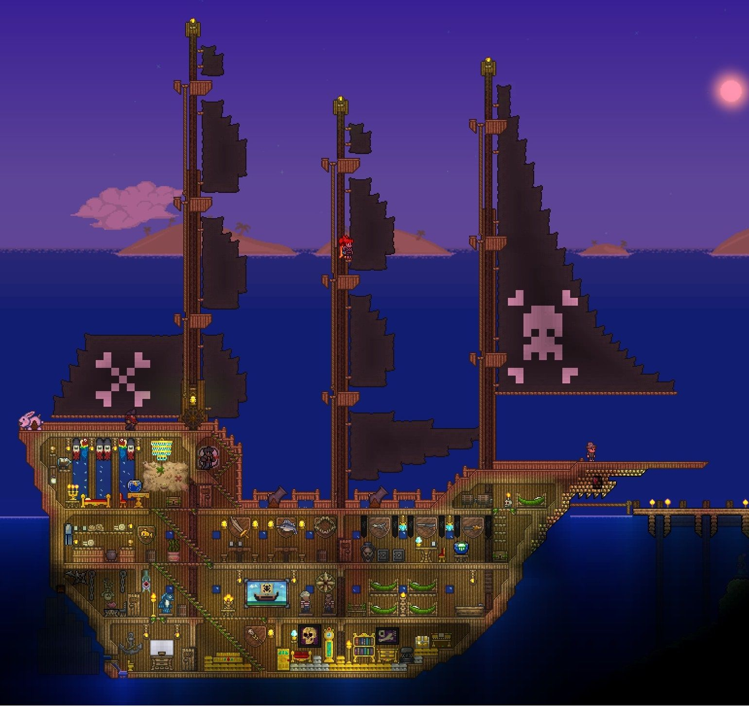 Pin By D G On Terraria: Image Result For Terraria Ship House