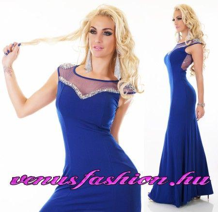Gyönyörű kék alkalmi női hosszú elegáns maxi ruha  00f98bd366
